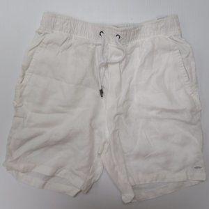 Industrie White Shorts 100% linen New Men 30